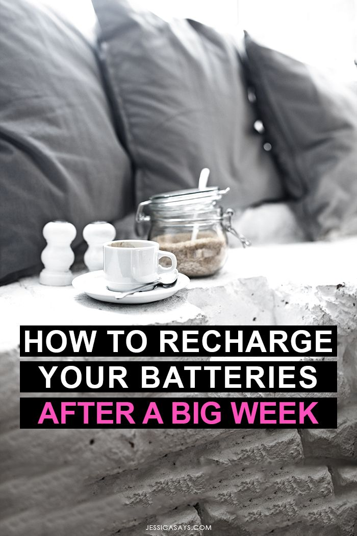 [ How to Recharge Your Batteries After a BIG Week | Jessica Says ] As bloggers, online business owners and creatives, it can be difficult to switch off; yet, recharging our batteries after a busy week is CRUCIAL for facing whatever life throws at us! In this blog post, I share my 5 best tips for looking after myself and refilling my well after a BIG week. Self-care is an essential component of running an online empire - don't miss out!