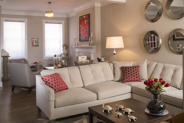 Contemporary Living Room Remodel Roundmirrors Mirrors Silver White Conte