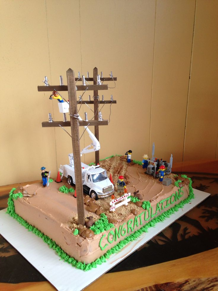 Journeyman lineman graduation cake