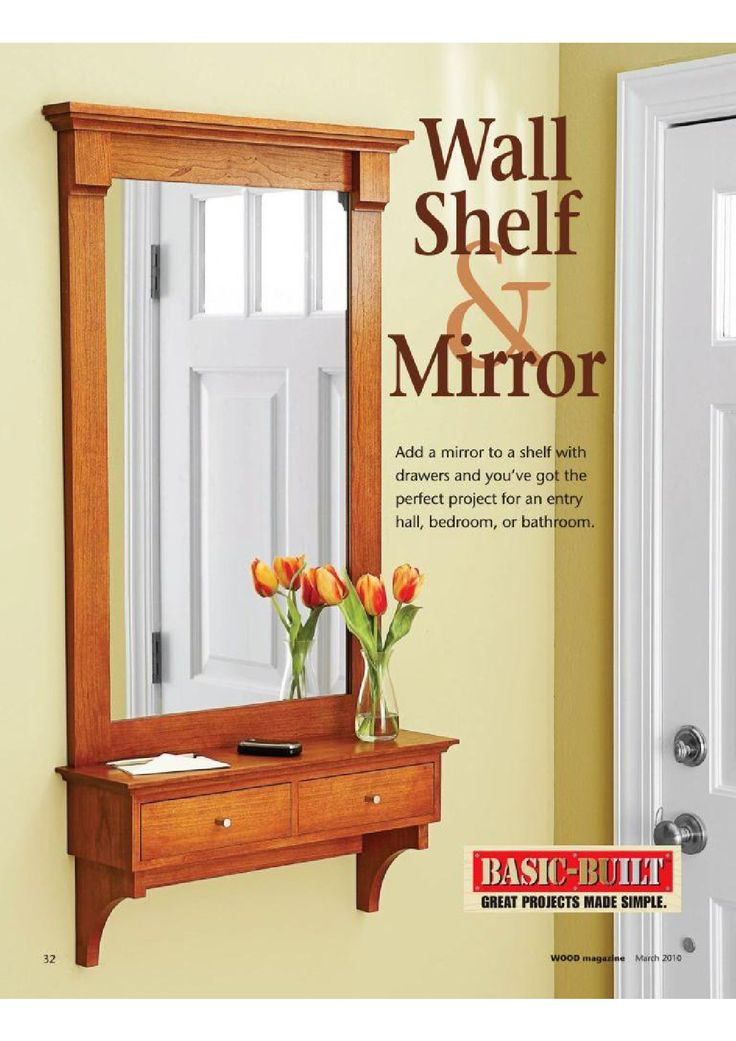 DIY Shelf and Mirror