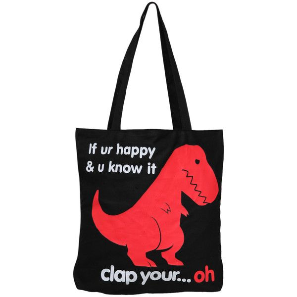 Goodie Two Sleeves T-Rex Reversible Tote   Hot Topic ($20)
