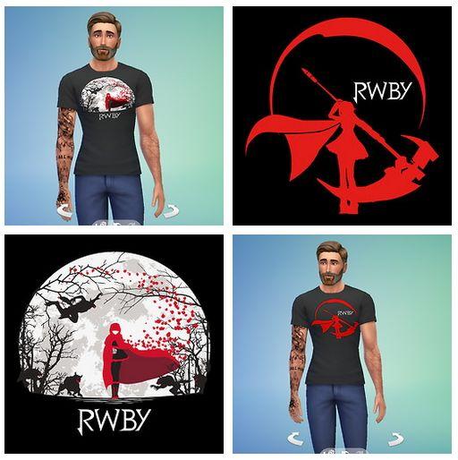 RWBY Shirts for males at RTS4CC via Sims 4 Updates