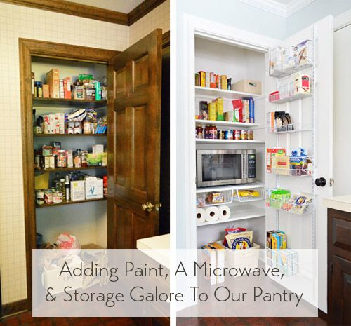 Adding A Microwave & Storage Galore To A Formerly Half-Baked Pantry