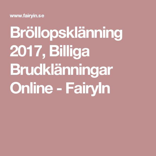 Bröllopsklänning 2017, Billiga Brudklänningar Online - FairyIn