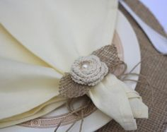 Porta guardanapo flor de crochê