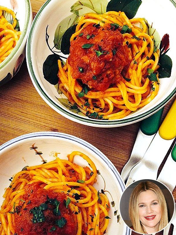 Drew Barrymore's Spaghetti and Meatballs Will Make You Very, VeryHungry