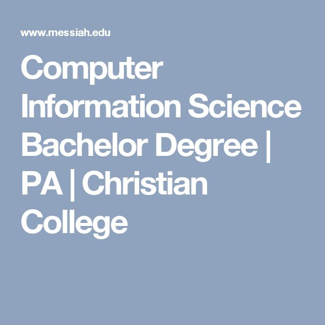 Computer Information Science Bachelor Degree | PA | Christian College