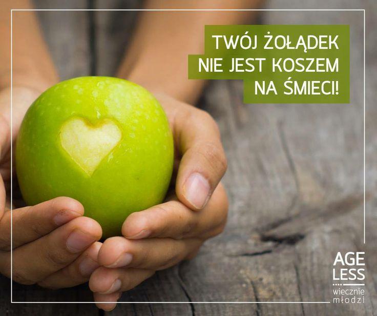 Jeden z kroków na drodze do #wiecznejmłodosci to zdrowa, bogata w warzywa i owoce dieta oraz regularne spożywanie posiłków. Pamiętajcie - zdrowie macie tylko jedno, więc uważajcie, na to, co jecie. :) #ageless #wieczniemlodzi #zoladek #witaminy #owoce #dieta www.ageless.pl