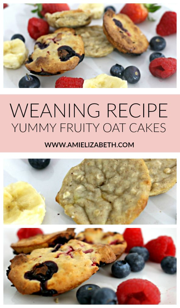 Yummy Fruity Oat Cakes are the ideal speedy breakfast for babies. Baby Led Weaning. Baby Snacks,