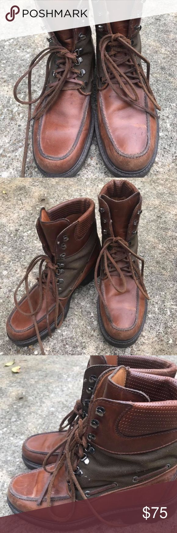 Cole Haan Hiking boots Brown Lace up leather Cole Haan boots Cole Haan Shoes Combat & Moto Boots