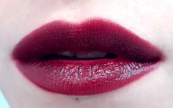 occ lip tar black dahlia swatch black cherry lips