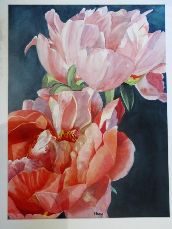 Peony Ascent, A3, Watercolour, Dec 2015, by Moey (NFS) No. 15