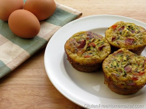 These zucchini quiche muffins are low carb and easy to experiment with. Try different herbs and protein.