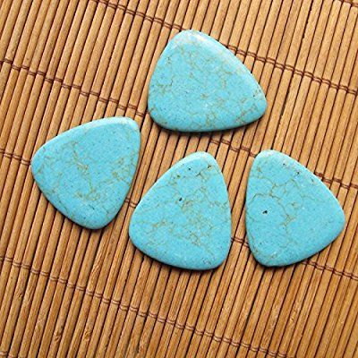 Blue Gemstone Guitar Picks Stabilized Turquoise Classic Traditional Guitar Pick