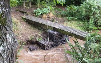 Low Cost Gabion Bridge Support Cheaper Than Block Stone