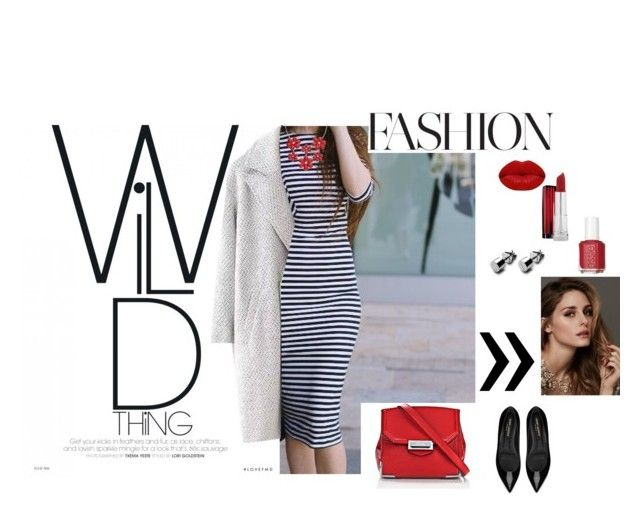 Red by nastja11t on Polyvore featuring polyvore, fashion, style, Yves Saint Laurent, Alexander Wang, Maybelline, Winky Lux, Essie, Beauty Secrets and clothing