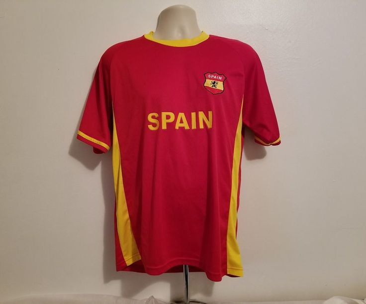 Spain Soccer Adult Large Red Jersey #EBSports