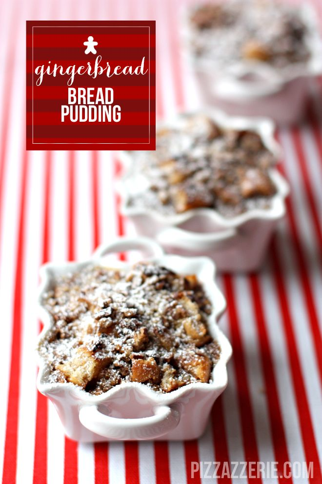 Call us Gingerbread men cause we can't get enough of Gingerbread Bread Pudding. #recipe #dessert