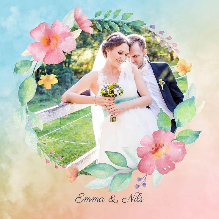 Fotokort: invitasjon eller takkekort til bryllup