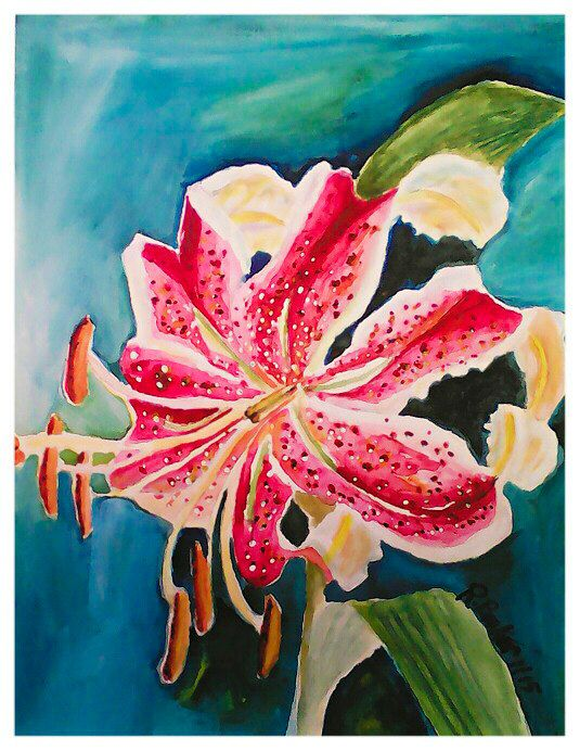 Stargazer- Original mixed media painting, 9x12 by Robin Booker by BluberryHillBoutique on Etsy