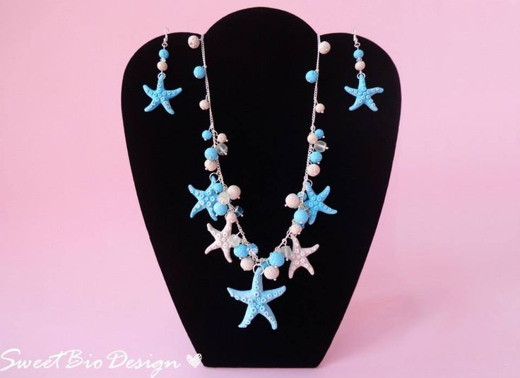 Montaggio Parure stile marino - Necklace & earrings set marine style by sweetbiodesign.blogspot.it