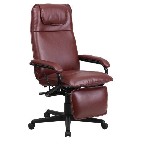 Flash Furniture High Back Leather Executive Reclining Office Chair, Red