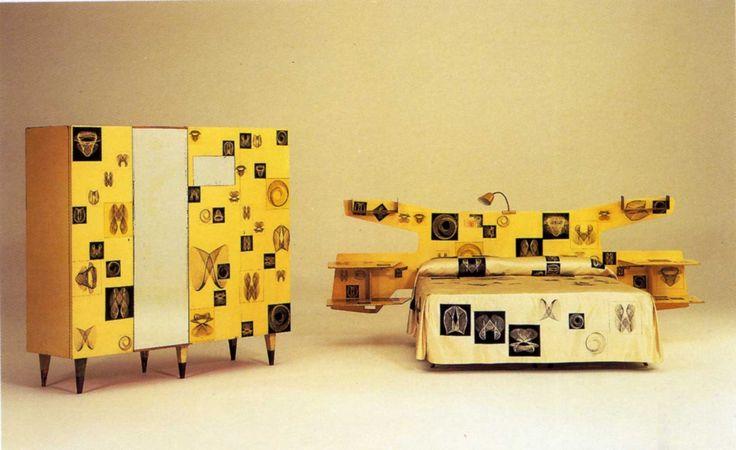 Camera da letto / Bedroom, Gio Ponti, Piero Fornasetti, 1951, courtesy Bischofberger Collection, Svizzera _ Ossessione I_Il Teatro Animista