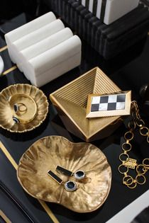 great office accessories. Diva Dish #kellywearstler #desk #bronze