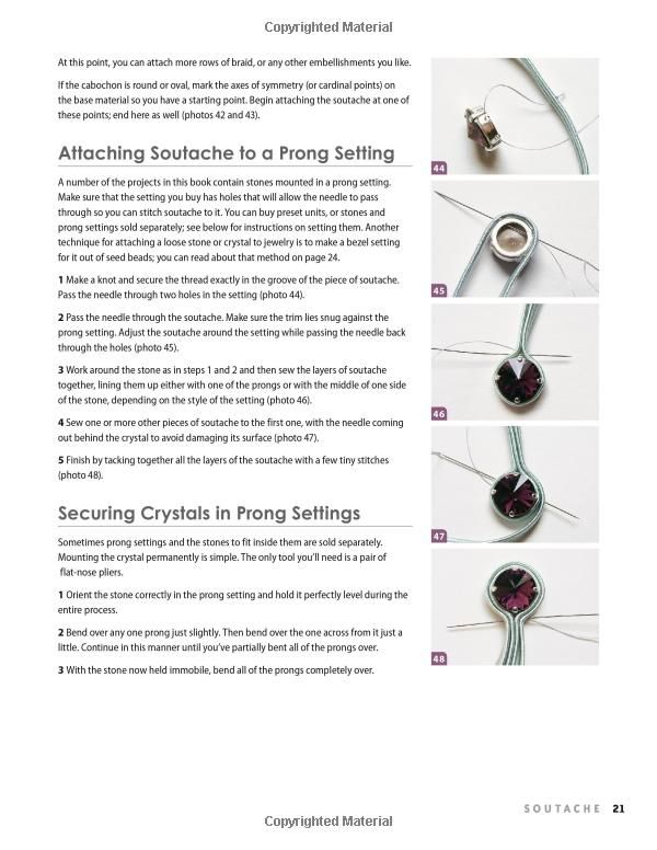 Soutache: 30 Gorgeous Bead Embroidery Designs (Lark Jewelry & Beading Bead Inspirations): Anneta Valious: 9781454707578: Amazon.com: Books