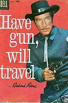 Have Gun – Will Travel is an American Western television series that aired on CBS from 1957 through 1963. It was rated either number three or number four in the Nielsen ratings during each year of its first four seasons.[1] It was one of the few television shows to spawn a successful radio version. The radio series debuted November 23, 1958.