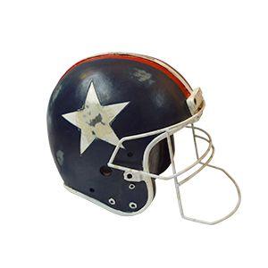 Alcancìa de casco de Futbol Americano azul 17x12x12cm