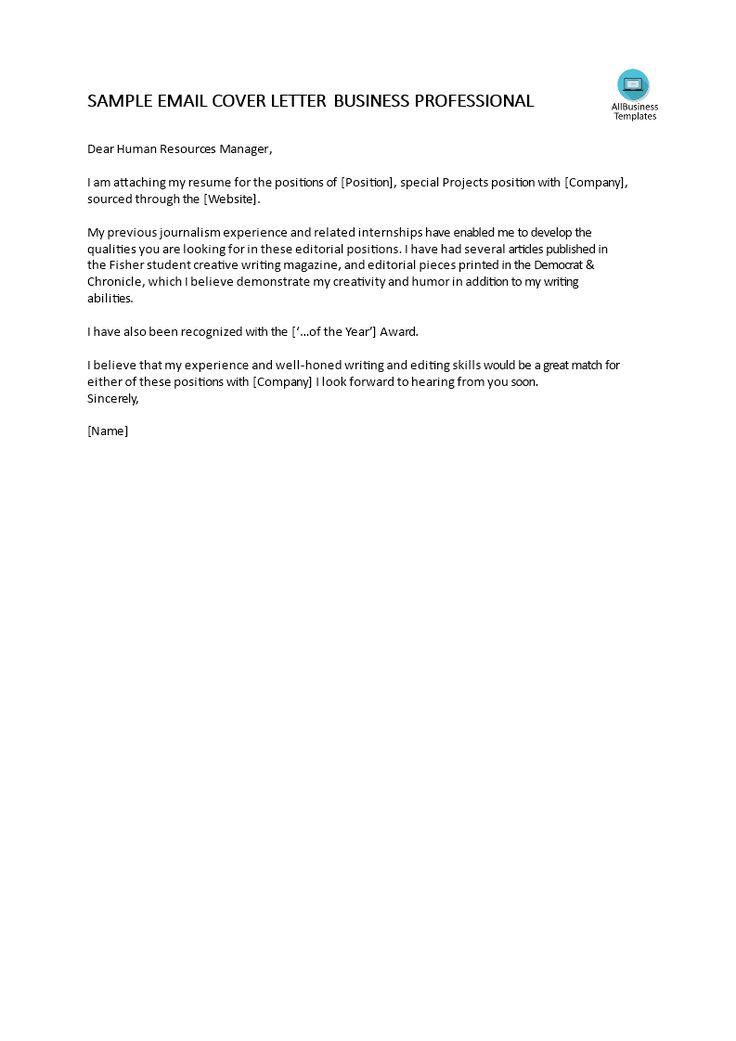 how to write a professional job application via email