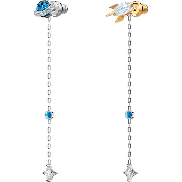 c6afb2e21 Out of this World Space Pierced Earrings, Multi-colored, Mixed plating -  Swarovski, 5447696