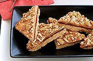 Barres au chocolat, caramel et noix