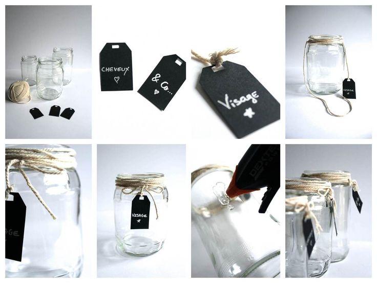 17 best images about bocaux en verre on pinterest mason jar weddings deco and glasses. Black Bedroom Furniture Sets. Home Design Ideas