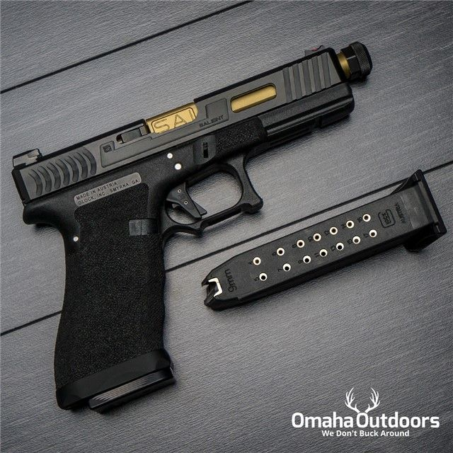 Salient Arms Glock 17 RTF2 Tier 1 9mm TiN Threaded Find our speedloader now!  http://www.amazon.com/shops/raeind