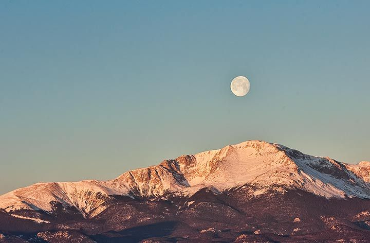 Full Moon over Pikes Peak photo