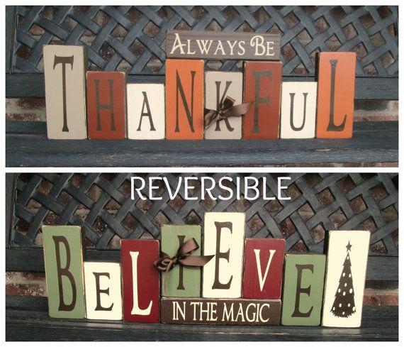 Reversible Holiday BlocksAlways be Thankful reverses by jjnewton