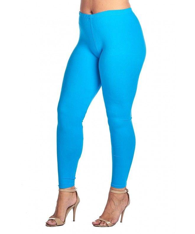 5bda0612afe Women s Junior Plus Size Solid Long Length Leggings - Turquoise -  CG184SUZ20D