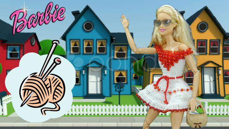dress craft Barbie white red