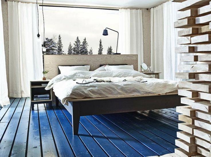 Modernes Schlafzimmer einrichten - Doppelbett von Ikea