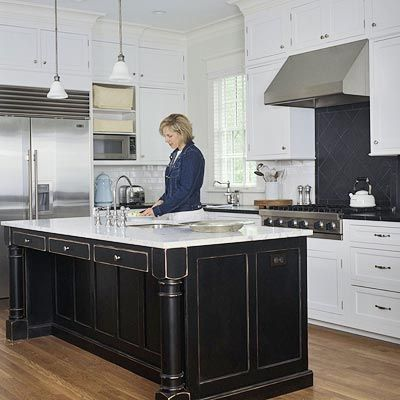 White Kitchen Black Island 99 best kitchen cabinets images on pinterest | home, kitchen and