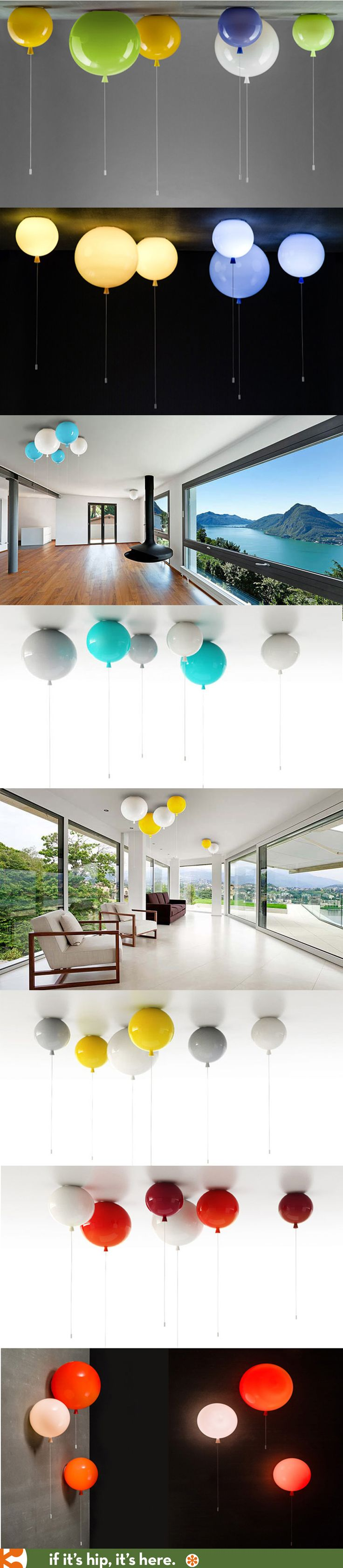 Glass Balloon Lights for ceiling or wall