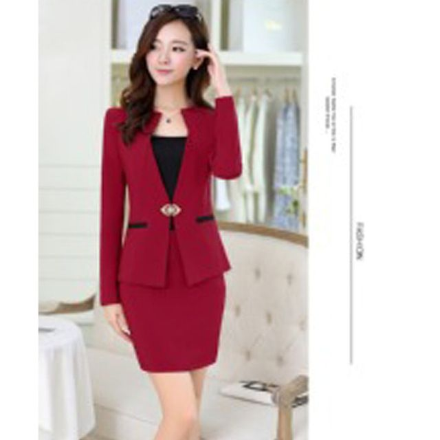 Professional women new winter pants Suit red pants suits for womens pant suit sets formal (jacket + Wrapped chest+ pants)