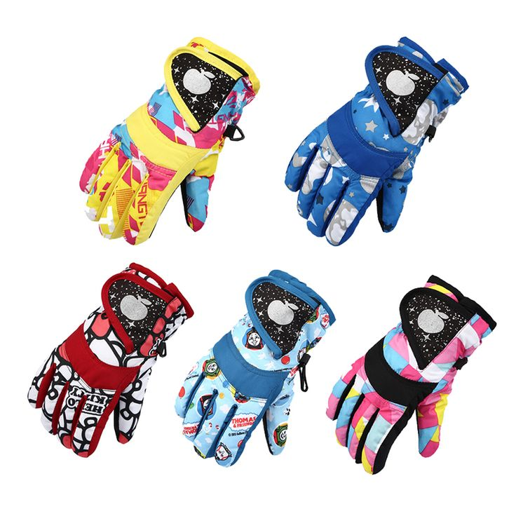 Ski Accessories Snow Snowboard Snowmobile Motorcycle Kids Gloves Windproof Waterproof Degree Children Winter Warm Polyester  #Affiliate