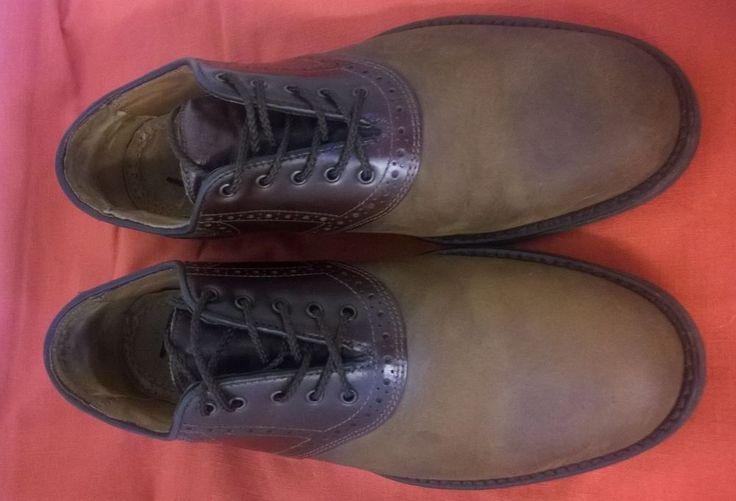 Best Offer:  Make Offer  JOHNSTON&MURPHY Brown Two-Tone Mens Saddle Shoe Size 8 D,M #JohnstonMurphy #Oxfords