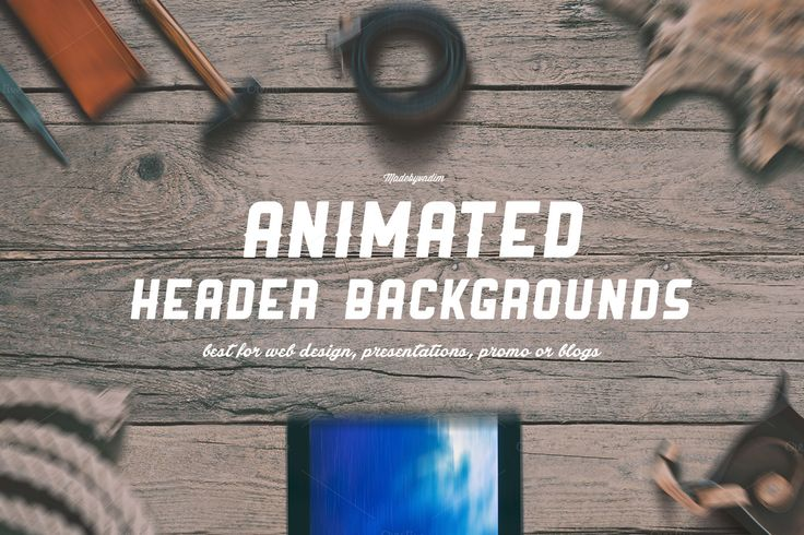 6 ANIMATED Hero/Header backgrounds