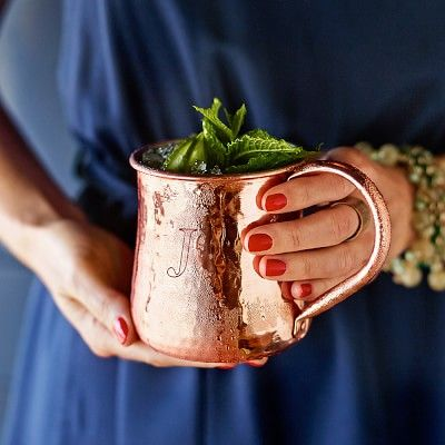 Copper Mug #williamssonoma..Would love without the monogram, like the bigger handles