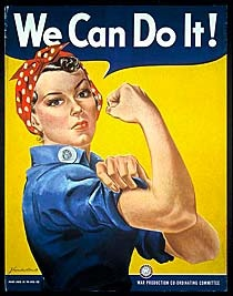 Rosie the Riveter Poster 1942 J. Howard Miller