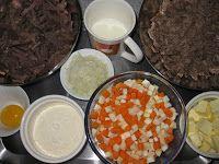 Blog Pepato.eu: Kachní kaldoun s játrovými knedlíčky, zjemněný mlékem a žloutkem